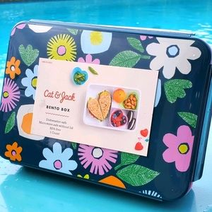 Cat & Jack Yum! Yummy! Bento Box floral Colorful
